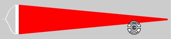 Langwimpel Rot mit Querholz