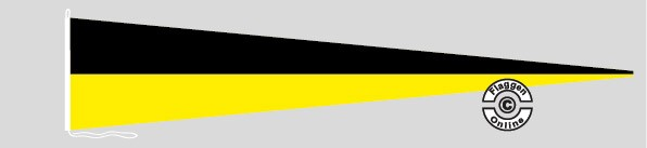 Langwimpel Schwarz / Gelb