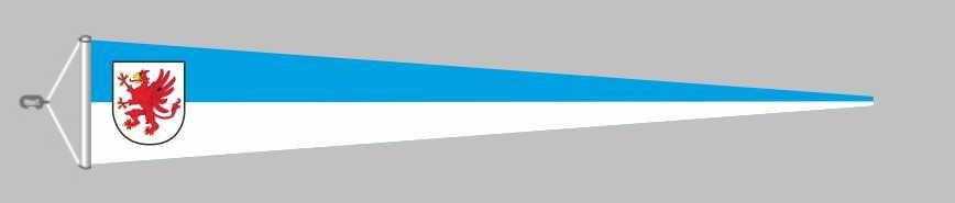 Vorpommern mit Wappen Langwimpel mit Querholz