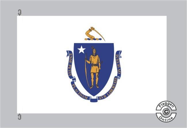 Massachusetts Flagge Fahne
