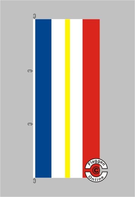 Mecklenburg-Vorpommern Hochformat Flagge / Fahne für extreme Windlasten