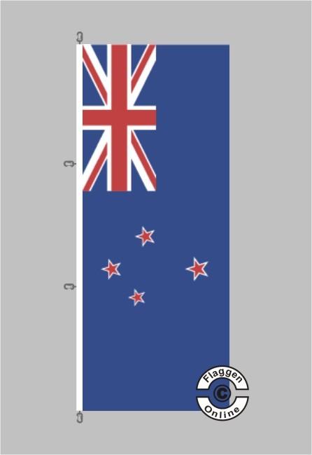 Neuseeland Hochformat Flagge