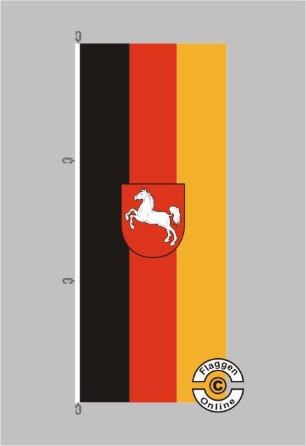 Niedersachsen Hochformat Flagge / Fahne für extreme Windlasten
