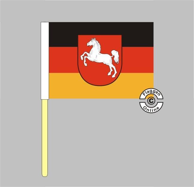 Niedersachsen Stockflagge