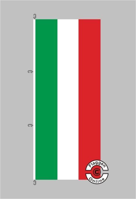 Nordrhein-Westfalen Hochformat Flagge / Fahne für extreme Windlasten