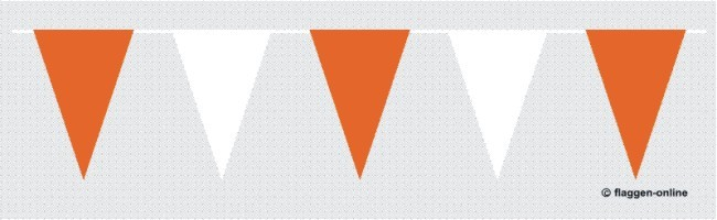 Wimpelkette Orange / Weiss