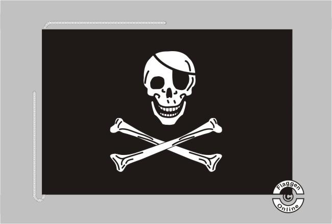 Pirat Jolly Roger Tischflagge