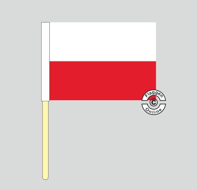 Polen Stockflagge