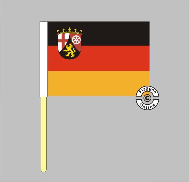 Rheinland-Pfalz Stockflagge