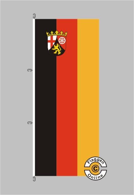 Rheinland-Pfalz Hochformat Flagge / Fahne für extreme Windlasten
