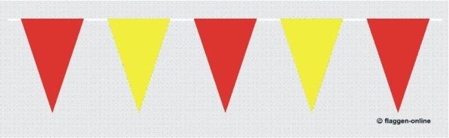 Wimpelkette Rot / Gelb