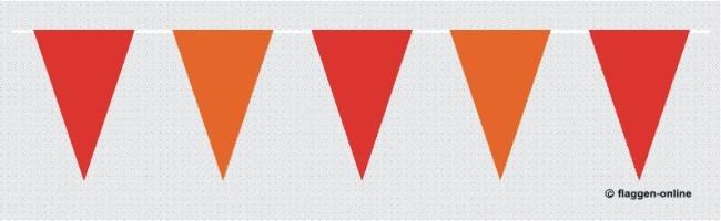 Wimpelkette Rot / Orange
