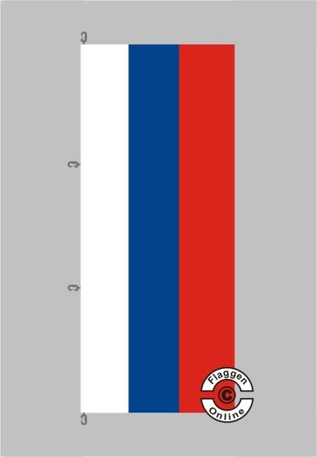 Russland Hochformat Flagge / Fahne für extreme Windlasten