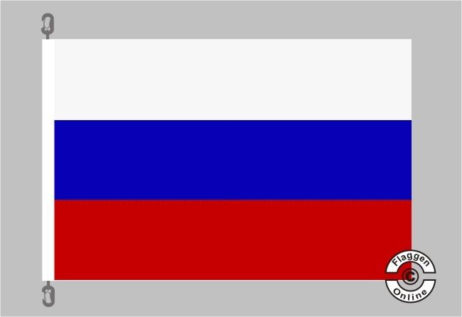Russland Flagge / Fahne für extreme Windlasten