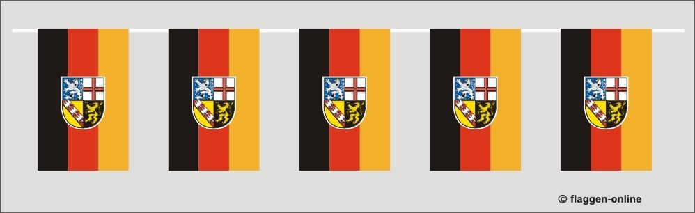 Saarland Flaggenkette