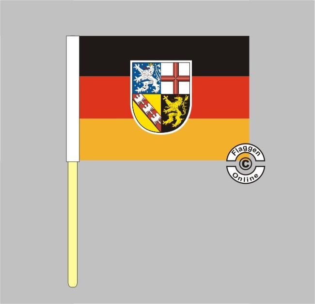 Saarland Stockflagge