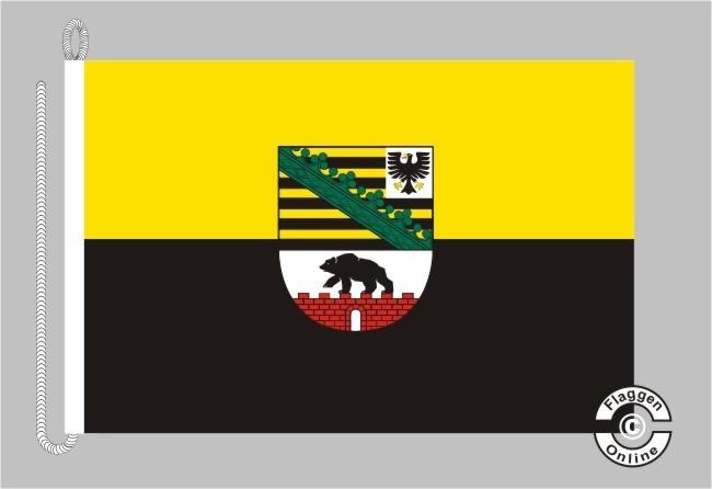 Sachsen-Anhalt mit Wappen Bootsflagge