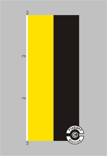 Sachsen-Anhalt Hochformat Flagge / Fahne für extreme Windlasten