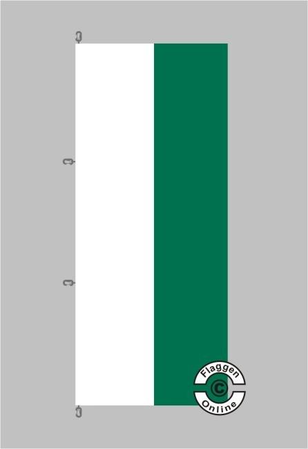 Sachsen Hochformat Flagge / Fahne für extreme Windlasten