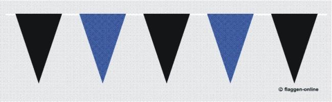 Wimpelkette Schwarz / Blau