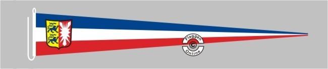 Schleswig-Holstein mit Wappen Langwimpel