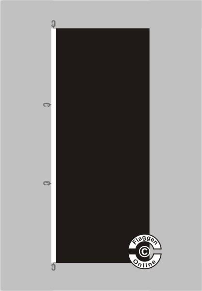 Schwarz Hochformat Flagge
