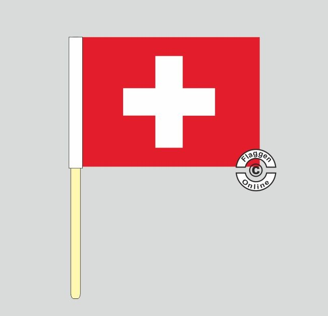 Schweiz Stockflagge