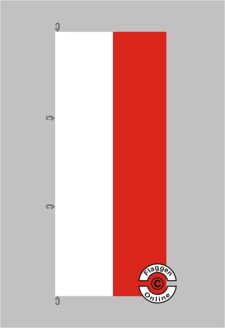 Thüringen Hochformat Flagge / Fahne für extreme Windlasten