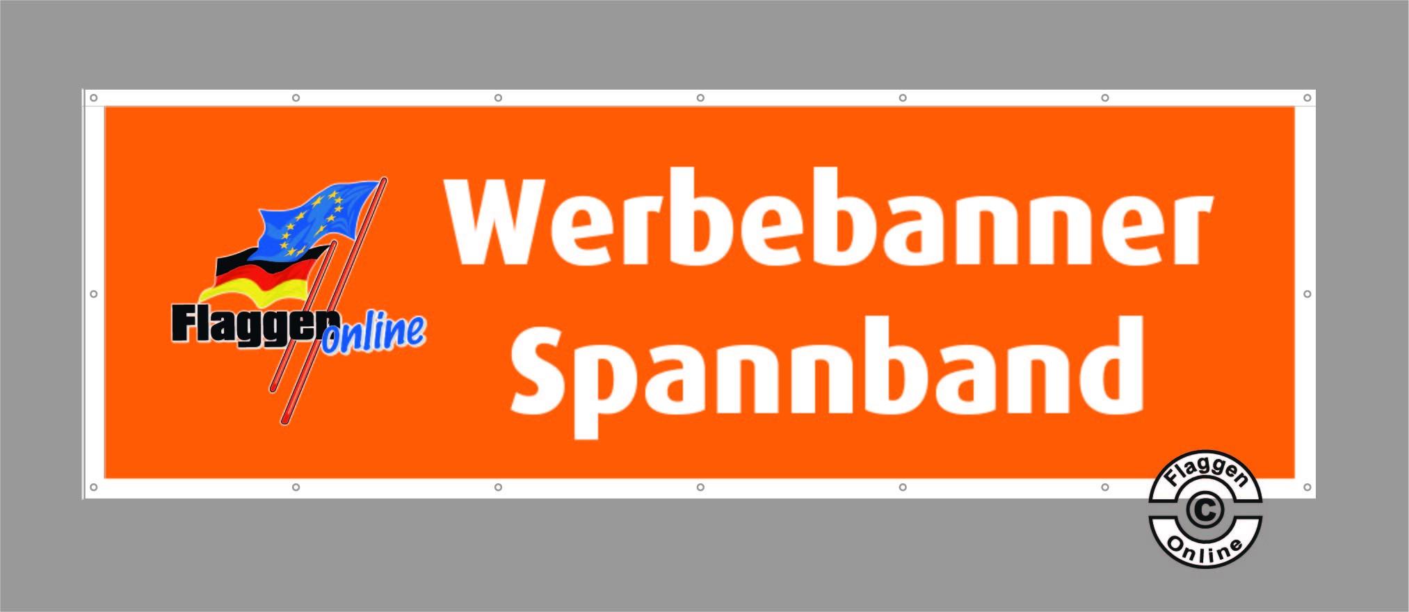Spannband / Werbebanner 80 x 400cm