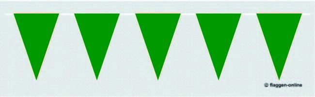 Wimpelkette Grün