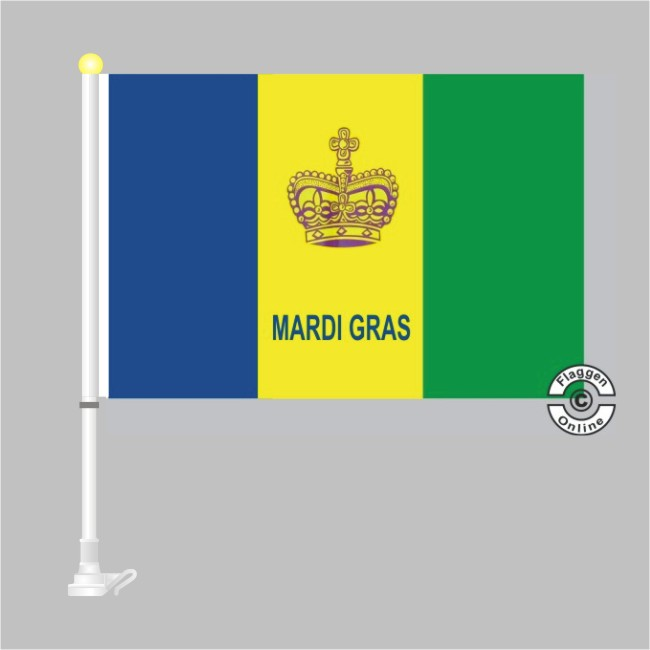 mardi gras autoflagge flagge autoflaggen premium deutsche bundesl nder flaggen. Black Bedroom Furniture Sets. Home Design Ideas